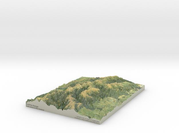 Ruahine Range Map: 8.5x11 (100k) in Coated Full Color Sandstone
