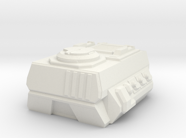 RUMV-Combat Flatbed APC Pod in White Strong & Flexible
