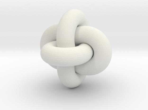 Borrrobean Rings - tight links in White Natural Versatile Plastic