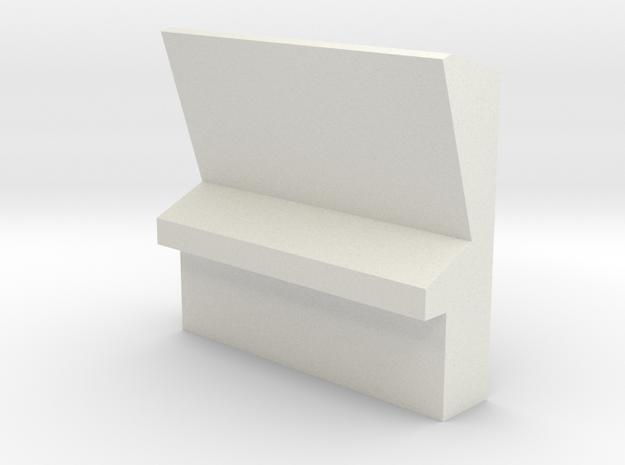 Engineering Wall Station (Star Trek Classic) in White Natural Versatile Plastic: 1:30