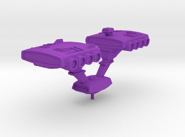 Pazock 1:3000 scale from Gundam in Purple Processed Versatile Plastic