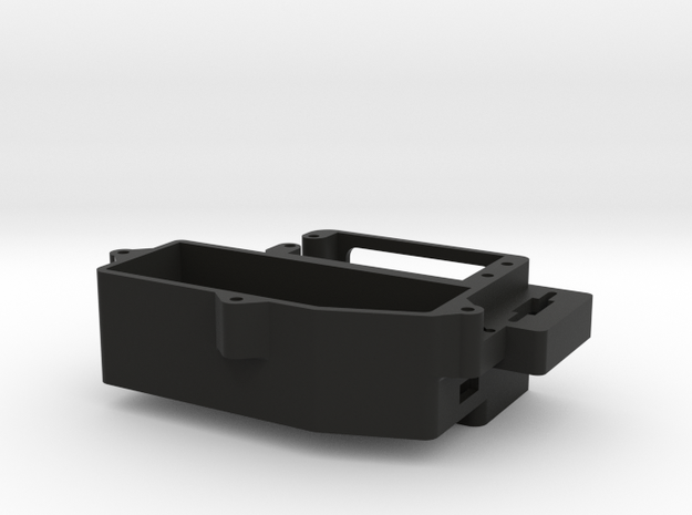 Servo Mount & Receiver Box bottom for T5 Nitro Con in Black Natural Versatile Plastic