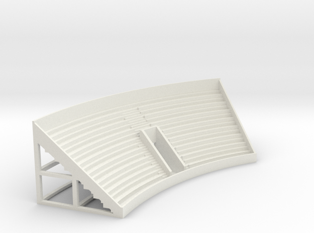 Curved Grandstand in White Natural Versatile Plastic