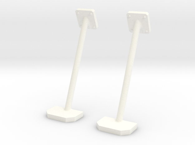 1.6 SIDE STEPS PLAT HUGHES 500 in White Strong & Flexible Polished