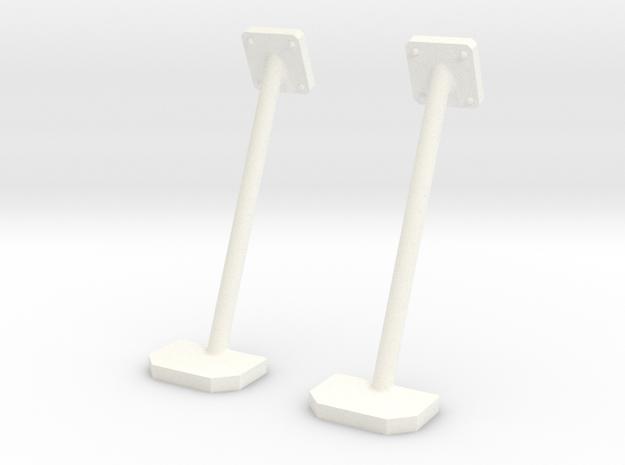 1.6 SIDE STEPS PLAT HUGHES 500 in White Processed Versatile Plastic