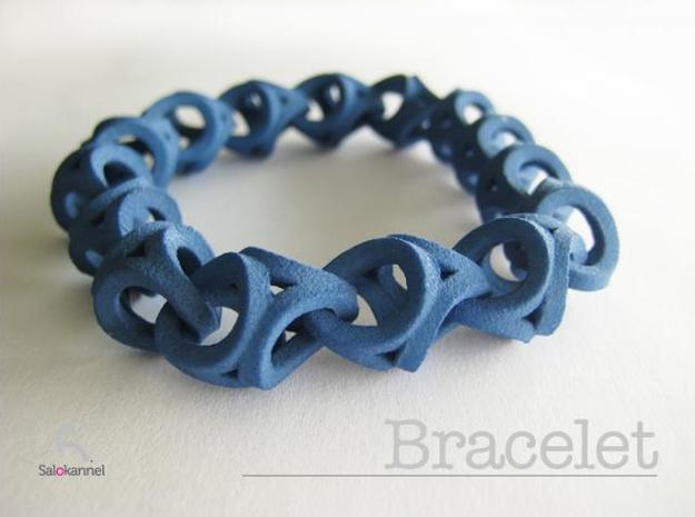 Crossover Thick - Bracelet size S 3d printed Jeans blue