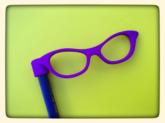 Glasses Penciltop: The Librarian in Purple Strong & Flexible Polished