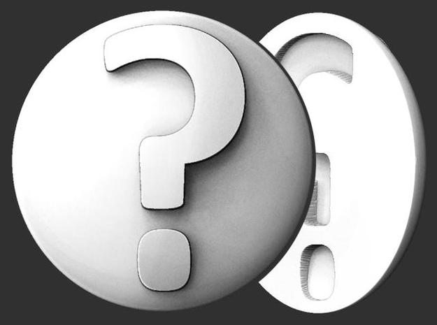Paperweight - Question Mark in White Natural Versatile Plastic