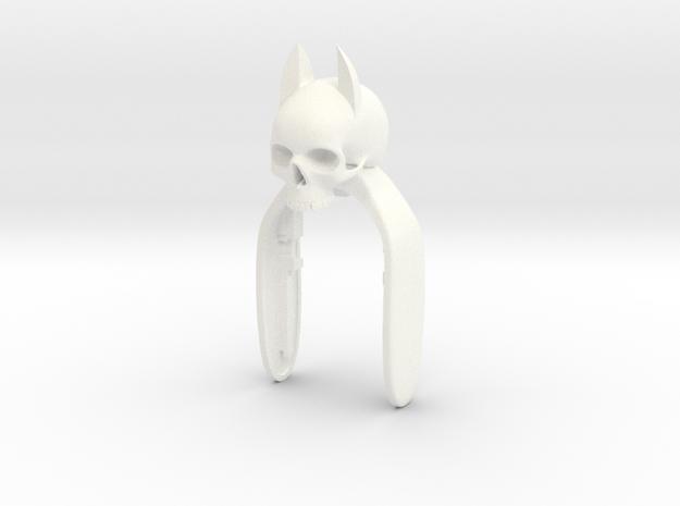 SKULL BATMAN KEYFOB  in White Processed Versatile Plastic