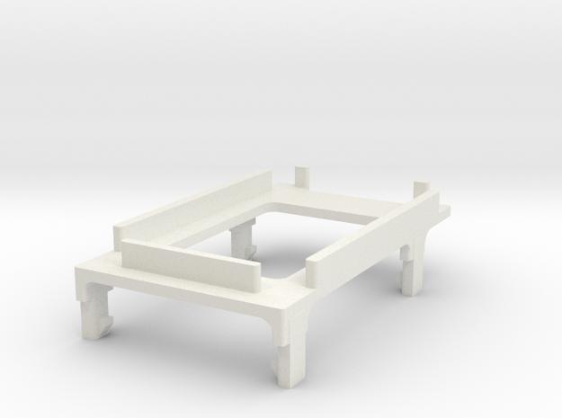 Silo75C Screen holder in White Natural Versatile Plastic