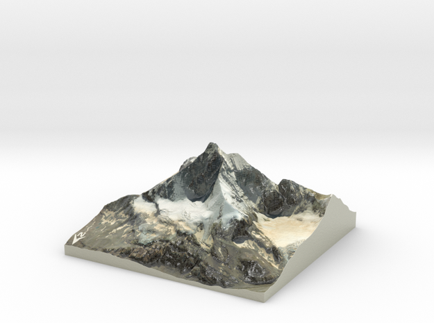 "Matterhorn / Monte Cervino Map: 9"" (22.8 cm) in Coated Full Color Sandstone"