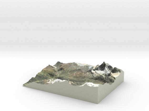 "Matterhorn / Monte Cervino Map: 8.5""x11"" (21x27 cm in Coated Full Color Sandstone"