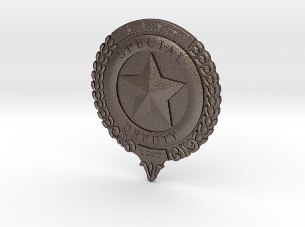 Wynonna Earp Marshall's Badge in Polished Bronzed Silver Steel