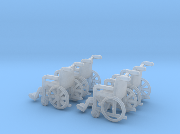 Wheelchair 01.  TT Scale (1:120) in Smooth Fine Detail Plastic