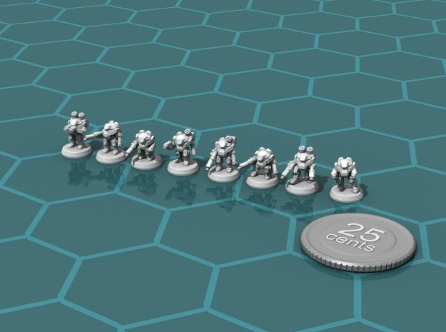 Terran Power Armor Squad in Frosted Ultra Detail
