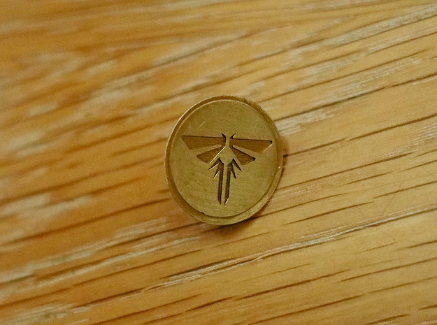 """The Last of Us Firefly pin 3/4"""" Dia. in Natural Brass"""