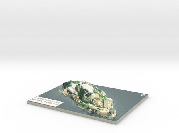 "Alcatraz Island Map: 8""x10"" in Coated Full Color Sandstone"