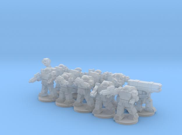Warplate Squad 2 (alt poses- based) in Smooth Fine Detail Plastic