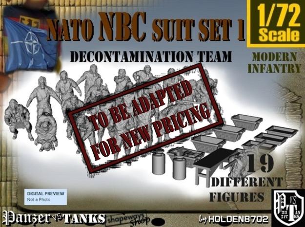 1-72 NATO NBC Suit Set 1 in Transparent Acrylic