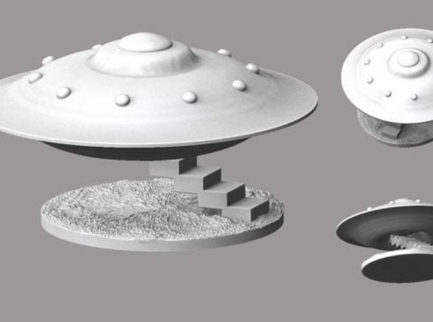 Spaceship Landing in White Natural Versatile Plastic