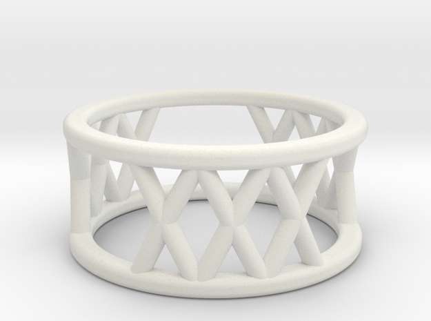 XXX Ring Size-4 in White Natural Versatile Plastic