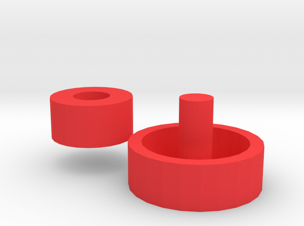 Fast Fidget Spinner Bearing Removal Tool in Red Processed Versatile Plastic