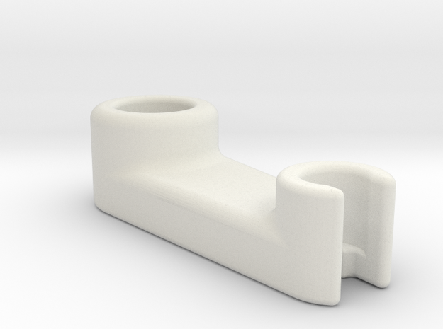 Reverse Bowden Holder in White Natural Versatile Plastic