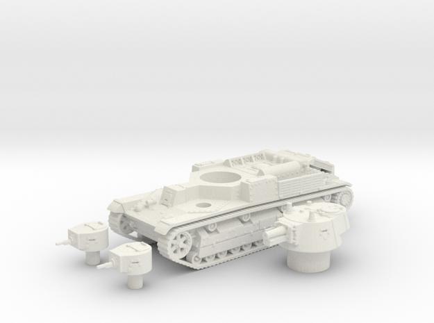 T -28 tank (Russia) 1/87 in White Natural Versatile Plastic