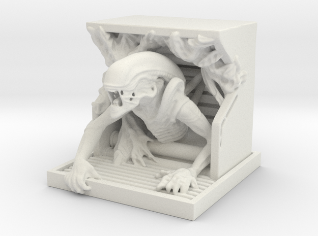 Alien Sculpture in White Strong & Flexible