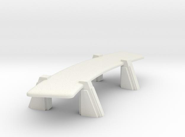 Conference Table (Star Trek Next Generation) in White Natural Versatile Plastic: 1:30