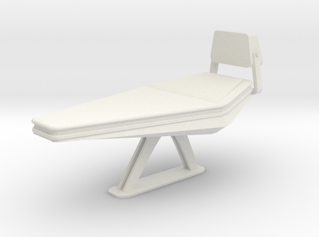 Medbay Bed (Star Trek Next Generation) in White Natural Versatile Plastic: 1:30