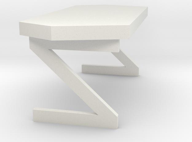 Dr. McCoy's Desk (Star Trek Classic) in White Natural Versatile Plastic: 1:30