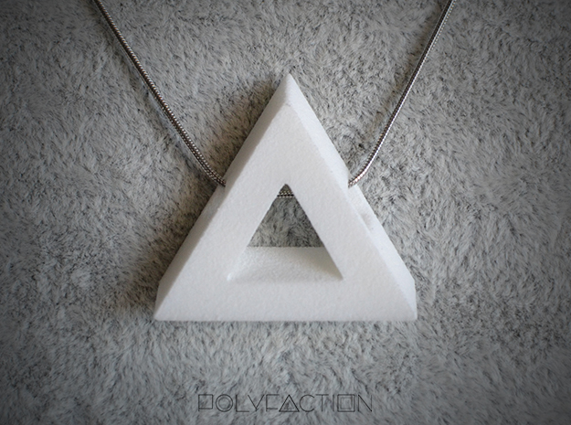 40_Degree_Triangle ::: TR ::: v.01 in White Strong & Flexible Polished