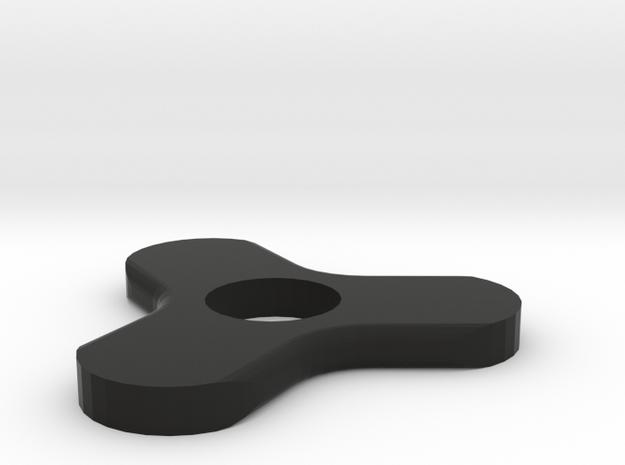"Fidget Spinner ""Book Weight"" in Black Natural Versatile Plastic"