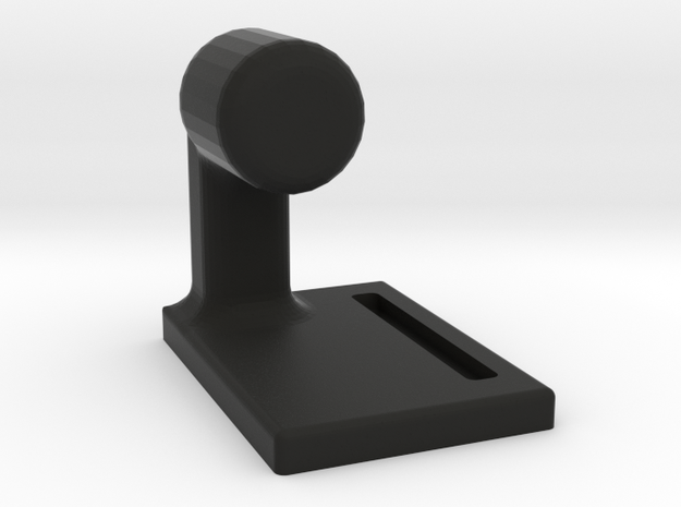 Phone And Watch Holder in Black Natural Versatile Plastic