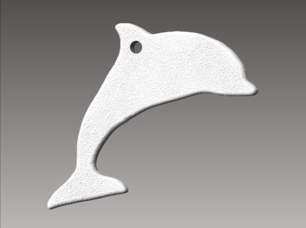 Dolphin Necklace Pendant 3d printed Rendered view.