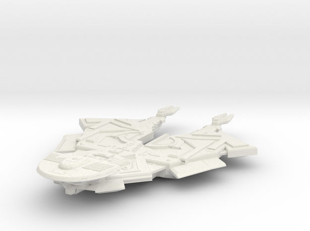Cardassian Kunvak Class Battleship in White Strong & Flexible