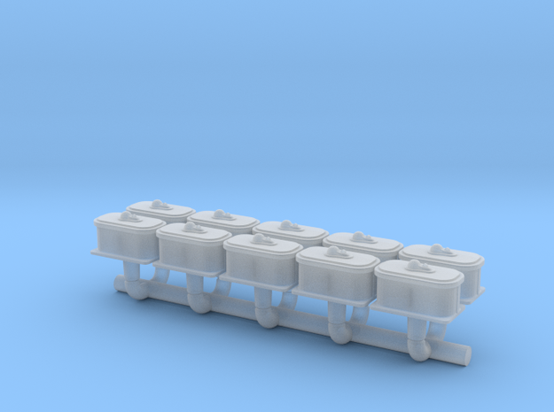 N Scale Switch Air Valve Box in Frosted Extreme Detail