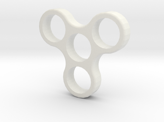 Fidget Spinner Nano  in White Strong & Flexible