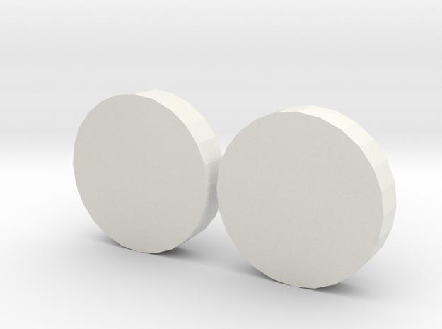 Fidget Spinner Nano Caps in White Strong & Flexible