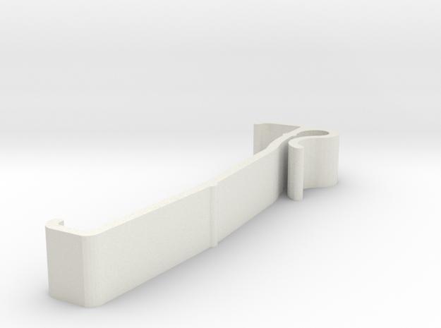 Blind Valance Clip 00136B in White Natural Versatile Plastic