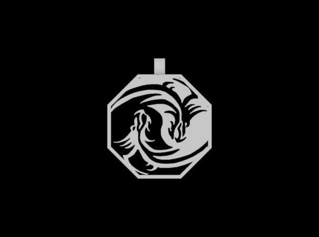 Dragon Pendant (Octagon)3 3d printed Description