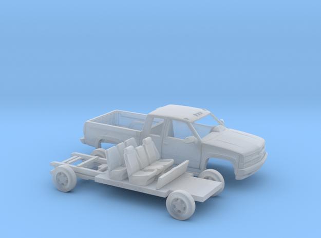 1/160 1994 Chevrolet Silverado Ext. Cab Custom Kit in Smooth Fine Detail Plastic