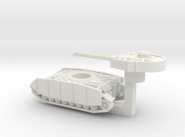 Pz IV ausf.J with Rotatable turret in White Natural Versatile Plastic