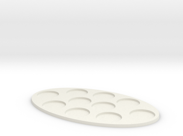 Oval Diorama Movement Tray - 25mm Round Slots