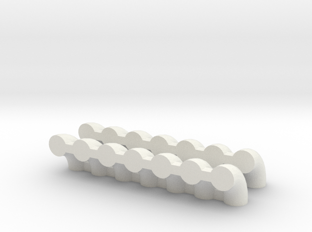 "'N Scale' - (14) 12"" Elbows in White Natural Versatile Plastic"
