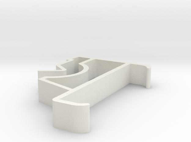 Blind Valance Clip 61 in White Natural Versatile Plastic