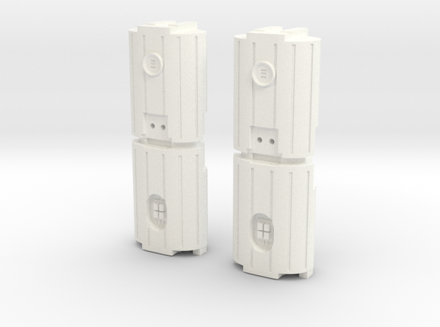 Docking Bay Dual Barrel Things, 1:43 in White Processed Versatile Plastic