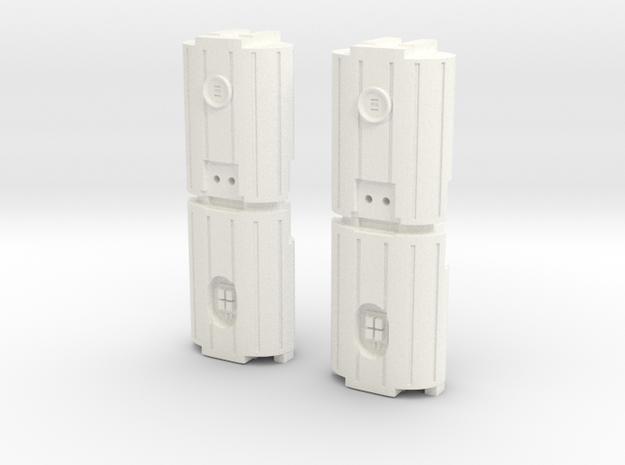 Docking Bay: Dual Barrel Things, 1:43 in White Processed Versatile Plastic