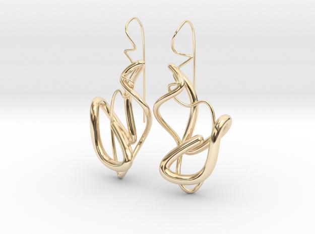 Delicate Drop Earings in 14k Gold Plated